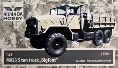 """AMM72206   M923 """"Big Foot"""" US 5ton Truck Resin kit w. PE set (thumb9640)"""