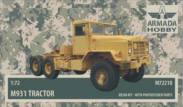 AMM72210   M931 US 5ton Tractor Unit Resin kit w. PE set (thumb9648)
