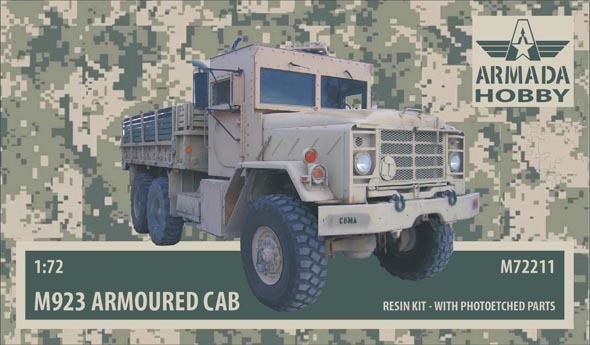 "AMM72211   M923 ""Big Foot"" US 5ton Truck w. Armoured Cab Resin kit w. PE set (thumb9650)"