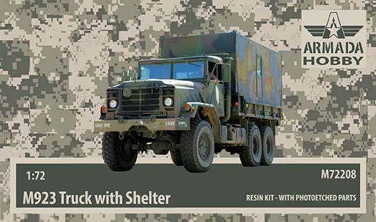 AMM72208   M923 «Big Foot» US 5ton Truck w. Shelter Resin kit w. PE set (thumb9644)