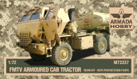 AMM72237    FMTV Armoured Cab Tractor Resin kit w. PE sets (thumb9678)