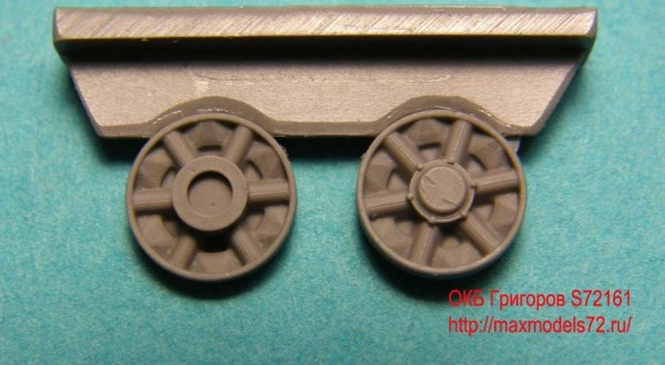 OKBS72161 Ленивцы для танка Т-64 ранние                 (14 шт. в наборе)        Early idler wheels for T-64 (thumb8032)