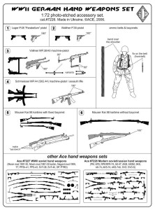 ACEPE7226   German WW2 hand weapons (Kar.98, P-08, P-38, MP-38, MP-44) (attach1 11511)