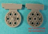 OKBS72080 Ведущие колеса танка Т-34 мод.1940 тип 3 (6 штук).           Sprocket wheel for T-34, mod.1940 type 3 (6 per set) (attach1 7775)