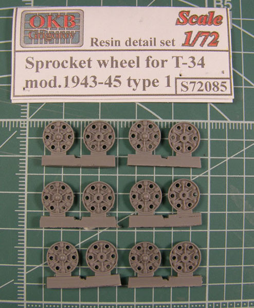 OKBS72085 Ведущие колеса танка Т-34 мод.1943-45 тип 1 (6 штук).    Sprocket wheel for T-34, mod.1943-45 type 1 (6 per set) (thumb7791)