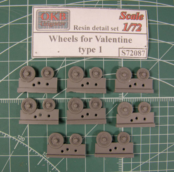 OKBS72087 Катки для танка Valentine, тип 1.                Wheels for Valentine, type 1 (thumb7797)