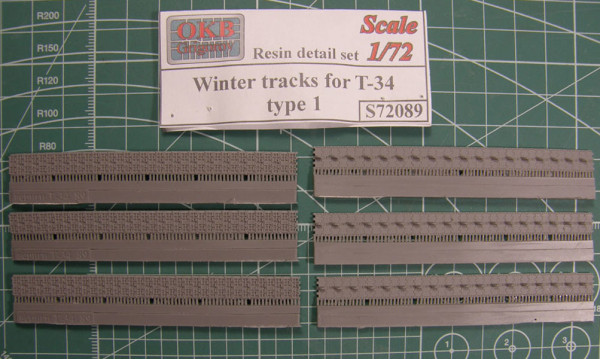 "OKBS72089 Траки для танка Т-34 ""зимние"" тип 1.          Winter tracks for T-34, type 1 (thumb7804)"