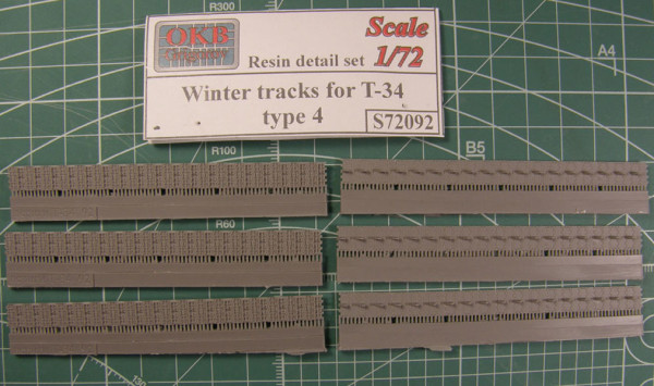 "OKBS72092 Траки для танка Т-34 ""зимние"" тип 4.            Winter tracks for T-34, type 4 (thumb7816)"