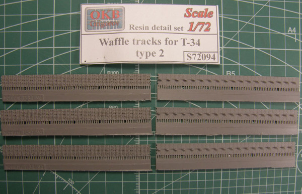 "OKBS72094 Траки для танка Т-34 ""вафли"" тип 2.          Waffle tracks for T-34, type 2 (thumb7824)"