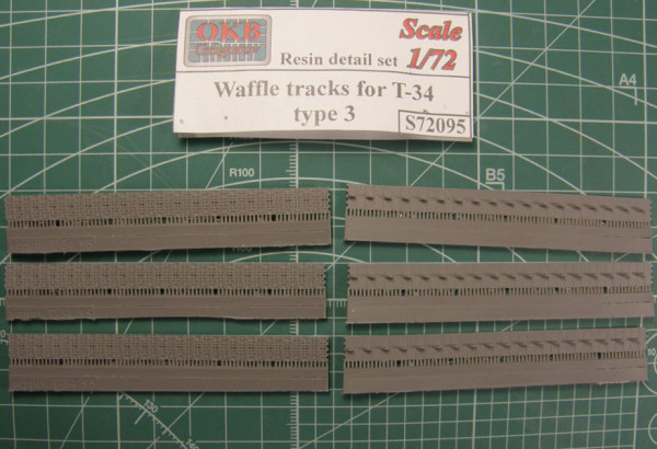 "OKBS72095 Траки для танка Т-34 ""вафли"" тип 3.         Waffle tracks for T-34, type 3 (thumb7828)"