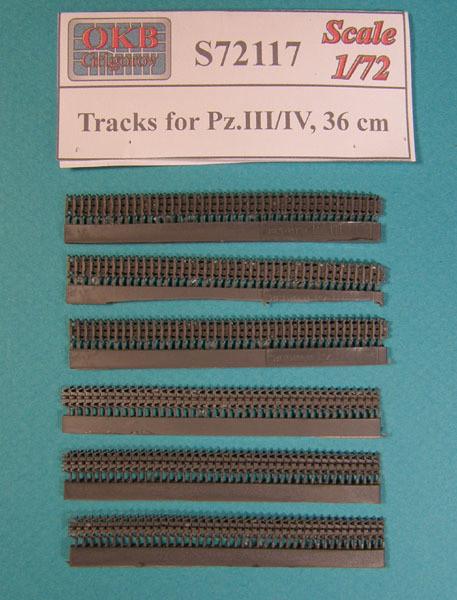 OKBS72117 Траки для танка Pz.III/IV, 36 cm.        Tracks for Pz.III/IV, 36 cm (thumb7909)
