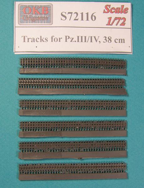 OKBS72116 Траки для танка Pz.III/IV, 38 cm.      Tracks for Pz.III/IV, 38 cm (thumb7905)