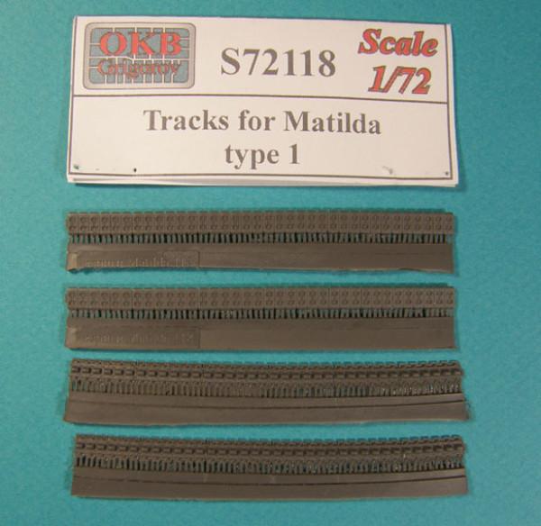 OKBS72118 Траки для танка Matilda, тип 1        Tracks for Matilda, type 1 (thumb7913)