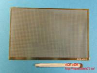 ACEs008   Wattled mesh  — cell 0.5х0.5mm (Сетка прямая плетёная) 70*45mm (attach1 6752)