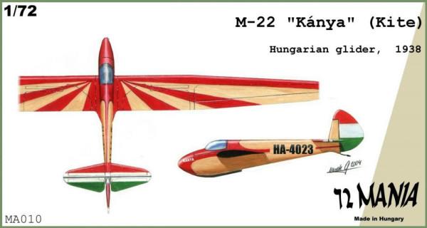"""BMMA010   M-22  """"Kite"""" Hun.glider (thumb9172)"""