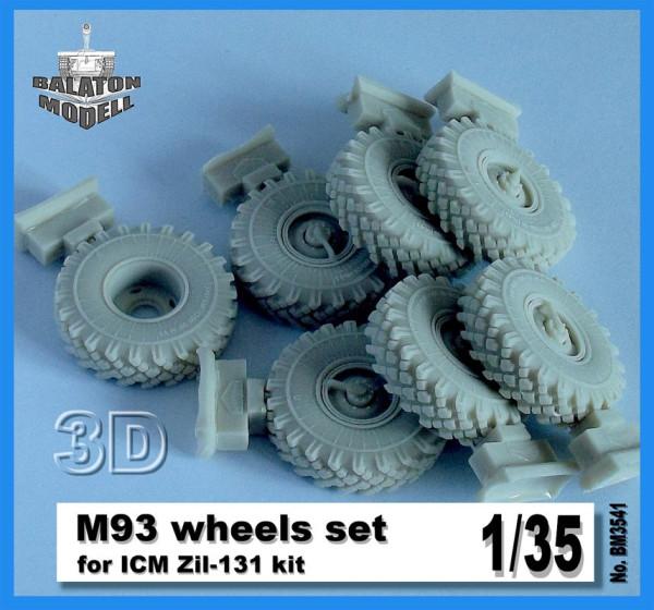 BM3541   M-93 колеса для модели авт. ЗИЛ-131 от ICM        M-93 wheels set for ICM Zil-131 kit (thumb9117)