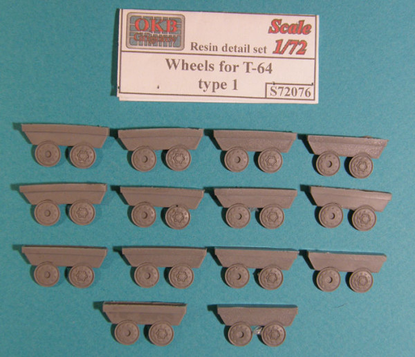 OKBS72076 Катки для танка T-64, тип 1           Wheels for T-64, type 1 (thumb7760)