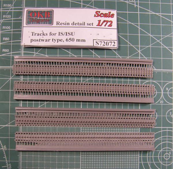 OKBS72072 Траки для семейства машин ИС/ИСУ литые 650мм обр. 1945 г.           Tracks for IS/ISU,postwar type, 650 mm (thumb7742)