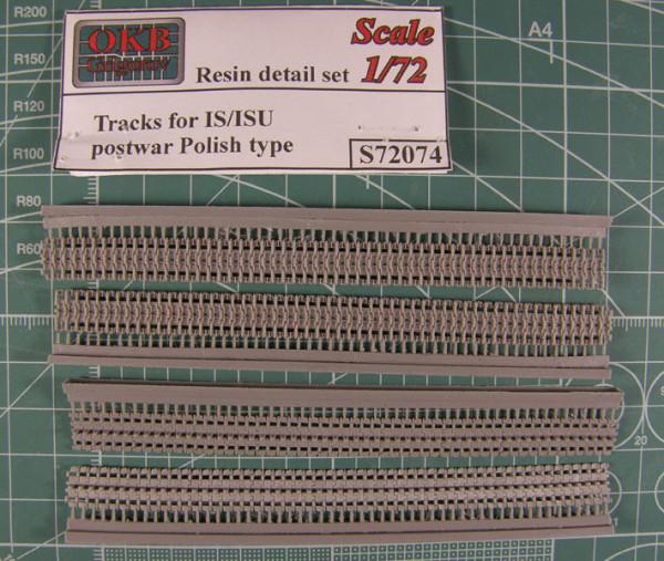 OKBS72074 Траки для семейства машин ИС/ИСУ литые скошенные 650 мм.          Tracks for IS/ISU,postwar Polish type,650 mm (thumb7750)