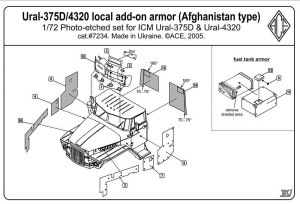 ACEPE7234   Ural 4320 Add-On Armor (Afghanistan war type) (thumb6683)