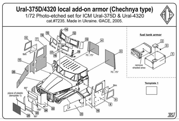 ACEPE7235   Ural 4320 Add-On Armor (Chechen war  type) (thumb6686)