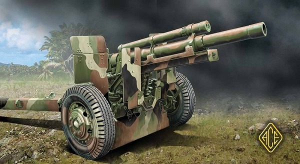 ACE72527   US 105mm Howitzer M2A1 w/M2A2 Gun Carriage (thumb6642)