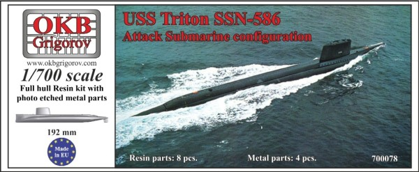 OKBN700078   USS Triton SSN-586, Attack Submarine configuration (thumb11356)