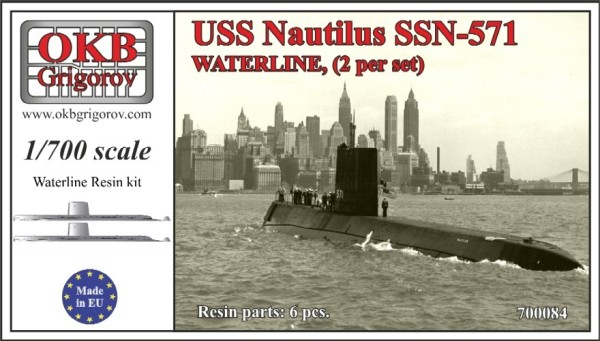 OKBN700084   USS Nautilus SSN-571,WATERLINE, (2 per set) (thumb11370)