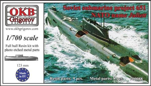 OKBN700088   Soviet submarine project 651 (NATO name Juliett) (thumb11382)