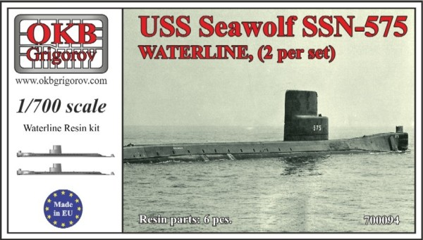 OKBN700094    USS Seawolf SSN-575,WATERLINE, (2 per set) (thumb11396)