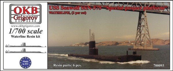 "OKBN700093   USS Seawolf SSN-575, ""Special project platform"",WATERLINE, (2 per set) (thumb11393)"