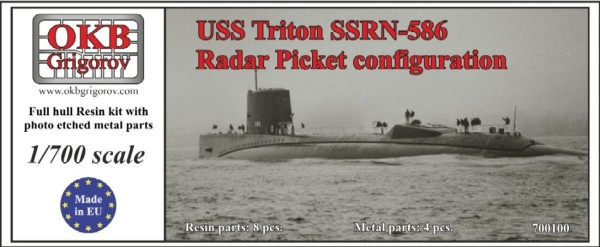 OKBN700100   USS Triton SSRN-586, Radar Picket configuration (thumb11411)