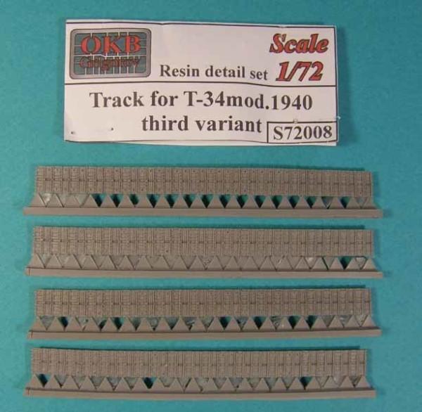 OKBS72008 Траки Т-34 ранние образца 1940 г. Вариант 3        Tracks for T-34 mod.1940, third variant (thumb7514)