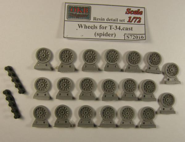 OKBS72016 Опорные катки Т-34 литые с усиленным оребрением (spider)         Wheels for T-34,cast(spider) (thumb7542)