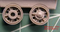 OKBS72025 Ленивцы Т-34 образца 1940 г. с металлическим бандажом          Idler wheel for T-34 mod.1940, all metal (6 per set) (attach1 7570)