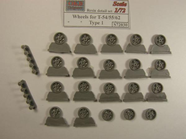 OKBS72030 Опорные катки танка Т-55/Т-62 тип 1 (с усиленными ступицами)         Wheels for T-54/55/62, type 1 (thumb7585)
