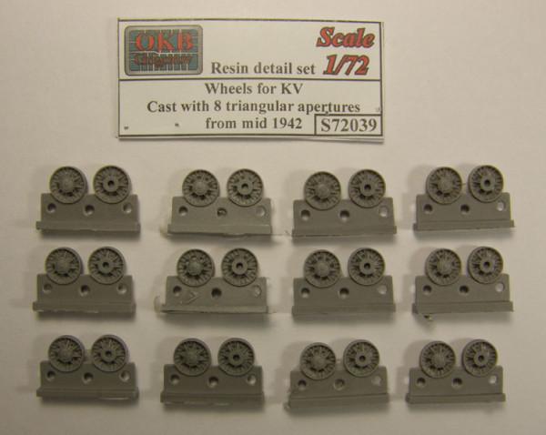 OKBS72039 Опорные катки КВ литые с 6-ю треугольными отверстиями облегчения обр. середины 1942         Wheels for KV, Cast with 8 triangular apertures, from mid 1942 (thumb7614)