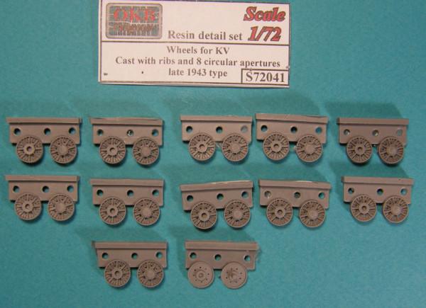OKBS72041 Опорные катки КВ литые  с оребрением и восьмью облегчающими отверстиями обр. второй половины 1943 года          Wheels for KV, Cast with ribs and 8 circular apertures, late 1943 type (thumb7620)