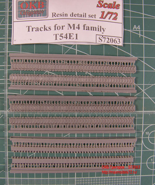 OKBS72063 Траки для семейства танков М4 тип T54E1            Tracks for M4 family, T54E1 (thumb7705)