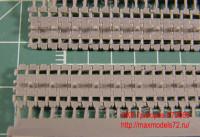 OKBS72069 Траки для семейства машин ИС/ИСУ ранние штампованные 650мм «разрезные» (гребни на траках через 1 звено)           Tracks for IS/ISU,initial «cut» type,650 mm (attach2 7730)