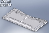ZdD72013   Надмоторная плита для Т-72         Engine cover T-72 (attach1 7313)