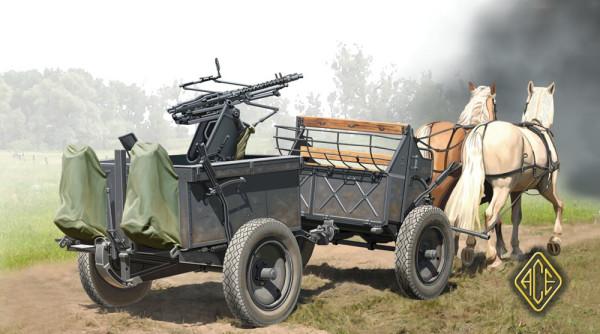 ACE72510   IF-5 horse drawn wagon w/Zwillingslafette 36 (thumb6612)