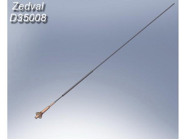 ZdD35008   Антенный ввод и четырехметровая антенна для БТТ оснащенной радиостанциями Р-123/123М, Р-163, Р-173. Для установки на моделях Т-55 (поздних серий), Т-62 (поздних серий), Т-64, Т-72, Т-80, Т-90, БМП-1/2/3 и БТР-70/80 (все варианты)                                                                Antenna input for radio stations R-123 (thumb7367)