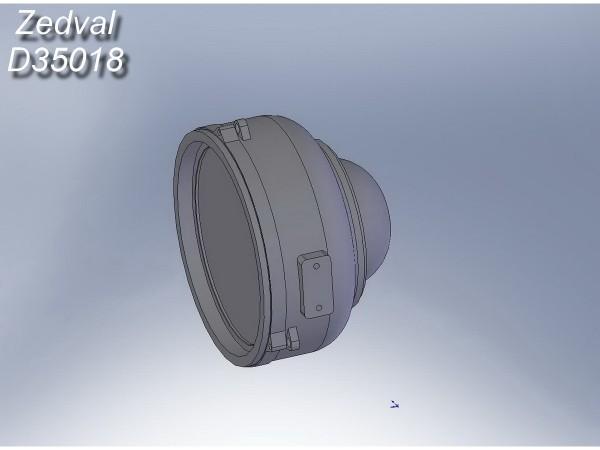 ZdD35018   Осветитель ОУ-3Г (3ГК, 3ГА2 3ГА2М, 3ГКУ). Для установки на модели современной советской/ российской БТТ.           Lighter OU-3G (thumb7370)