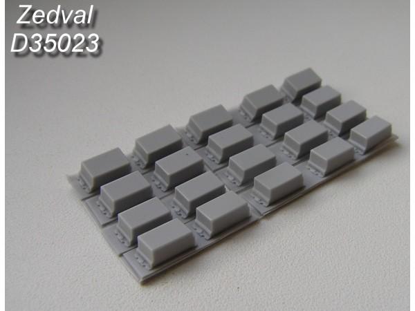 ZdD35023   Контейнеры динамической защиты «Контакт-3» тип «С»          Containers of explosive reactive armor (thumb7379)