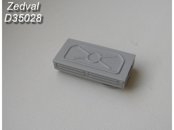 ZdD35028   Левый ящик ЗиП Т-54-2 (образца 1949), Т-54 (образца 1951)             Left spare part box of T-54-2 (sample 1949), T-54 (sample 1951) (thumb7389)