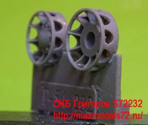 OKBS72232 Ранний ленивец для танков Т-54 (6 шт в наборе) Early idler wheel for T-54 (6 per set) (thumb8627)