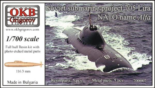 OKBN700007   Soviet submarine project 705K Lira (NATO name Alfa) (thumb11123)