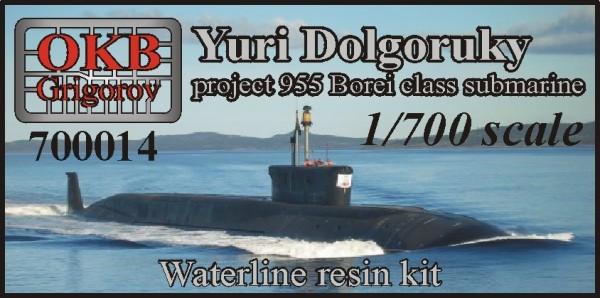 OKBN700014   Yuri Dolgoruky, project 955, Borei class submarine ,WATERLINE (thumb11152)