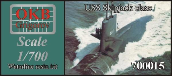 OKBN700015   USS Skipjack class submarine, WATERLINE, (2 per set) (thumb11155)